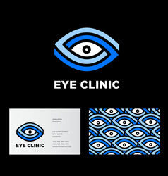 eye clinic logo ophthalmology vector image vector image