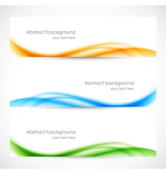 Set of colorful softness banners vector image