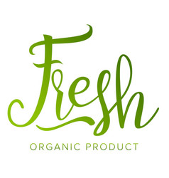fresh food sigh healthy life eco stamp vector image