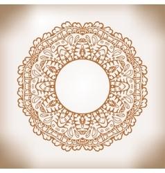 Mandala Ethnic decorative element Hand drawn vector image