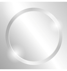 Metal background with circle vector image