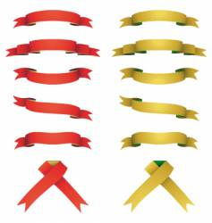 red and yellow banners set vector image vector image