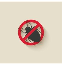 bug warning sign vector image