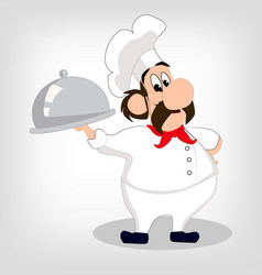 chef banner vector image vector image