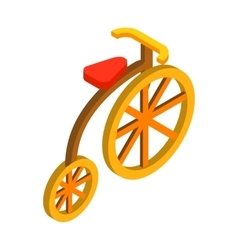 Circus bike isometric 3d icon vector image
