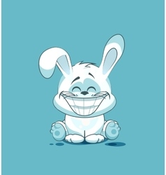 isolated Emoji character cartoon White leveret vector image vector image