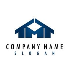 m house logo vector image