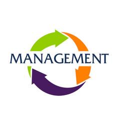 Management logo design template vector