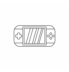 Mobile gaming console icon outline style vector image
