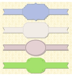 retro ribbons vector image
