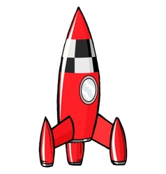 toy rocket vector image vector image