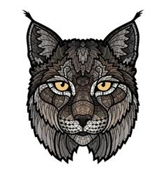 Wildcat lynx mascot isolated head vector image vector image