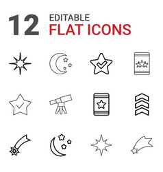 12 stars icons vector image