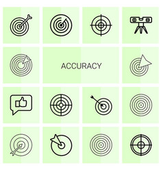 14 accuracy icons vector