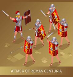 Attack roman centuria vector