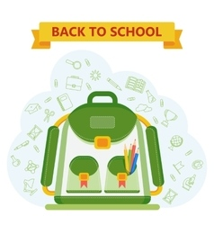 Back to school bag vector
