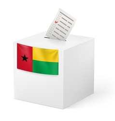 Ballot box with voting paper GuineaBissau vector image