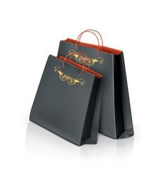 Black paper bags vector image