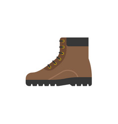 Boot shoes icon flat design vector