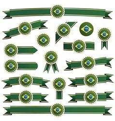 Brazil ribbons vector