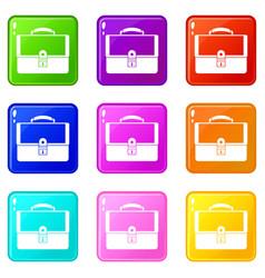 briefcase set 9 vector image