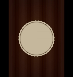 Brown creative cover vector
