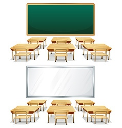 Classrooms vector image