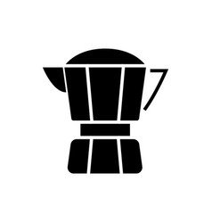 coffee maker icon black sign vector image