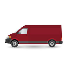 delivery van - layout for presentation vector image
