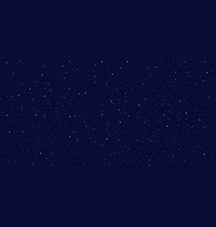 detailed realistic night starry blue sky vector image