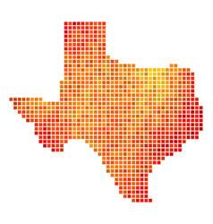 dot fire texas map vector image