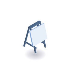 drawing board isometric icon vector image