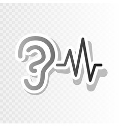 Ear hearing sound sign new year blackish vector