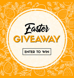 easter giveaway enter to win banner template vector image
