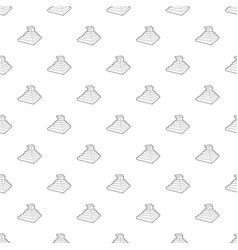 Eastern castle pattern seamless vector