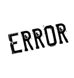 Error rubber stamp vector