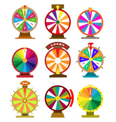 Fortune wheel icons vector