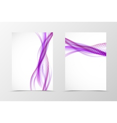 Front and back wave flyer template design vector image