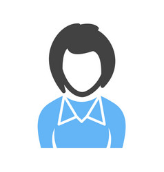 girl in bob cut hair vector image