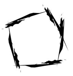 Grunge grungy geometric circle element edgy vector