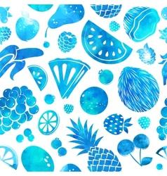 Hand drawn vintage fruit seamless vector image