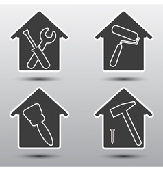 Home repairs icon set vector