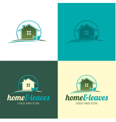house logo and icon vector image