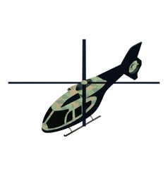 Isometric military helicoper vector