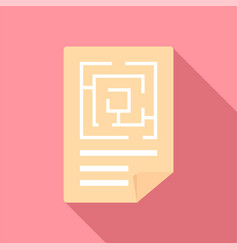 Labyrinth solution icon flat style vector