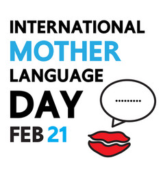 Language day vector