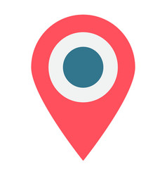 location flat icon map pin and website button vector image