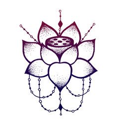 lotus flower with string beads vector image