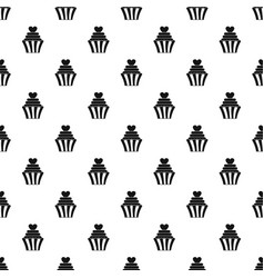 love cupcake pattern vector image