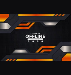 modern futuristic gaming currently offline vector image